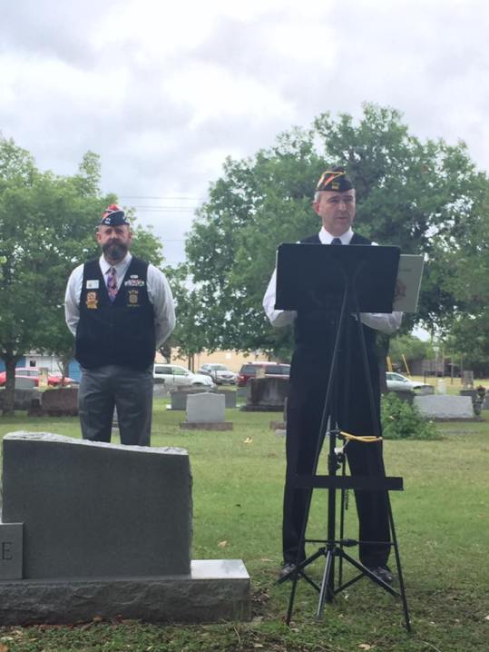 VFW Post 688 held a Memorial Day Ceremony today at 1100