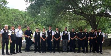 VFW 688 Memorial Day Ceremony in the Boerne Cemetery with members of the Boerne Police Department