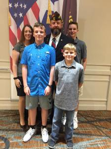 VFW Post 688's Post Commander/ VFW District 13's Commander Andrew Camplen and all the other VFW Department of Texas Officers who were sworn into office today at the 97th VFW Department of Texas Convention.