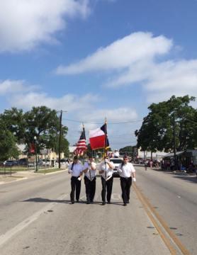 Color Guard Bergesfest Parade Boerne TX