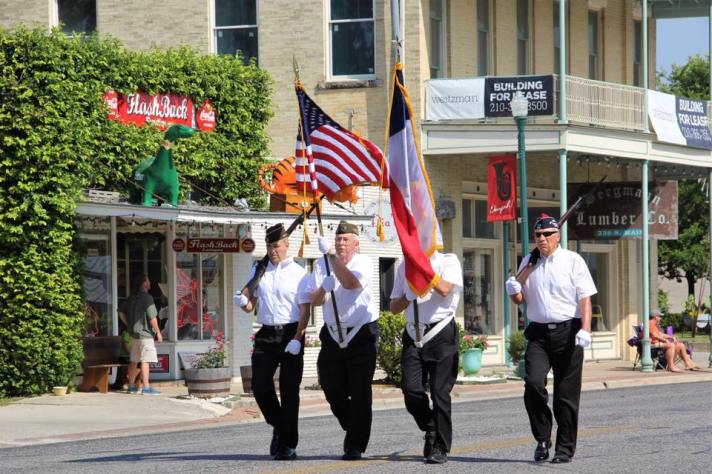 Color Guard Bergesfest Parade Boerne TX