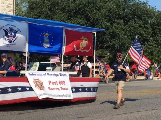 Kendall County Fair Parade VFW 688 1st Place Float